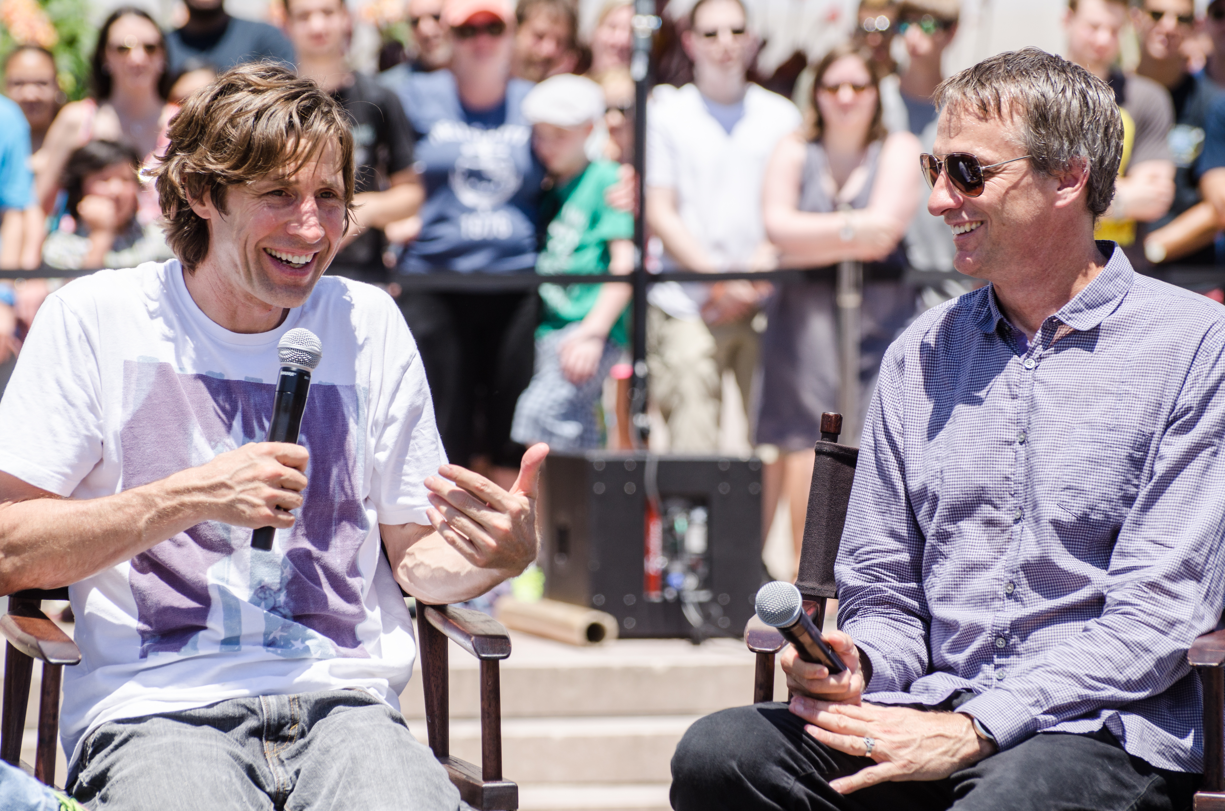 Rodney Mullen and Tony Hawk talk about their inventive process during one of our panels.