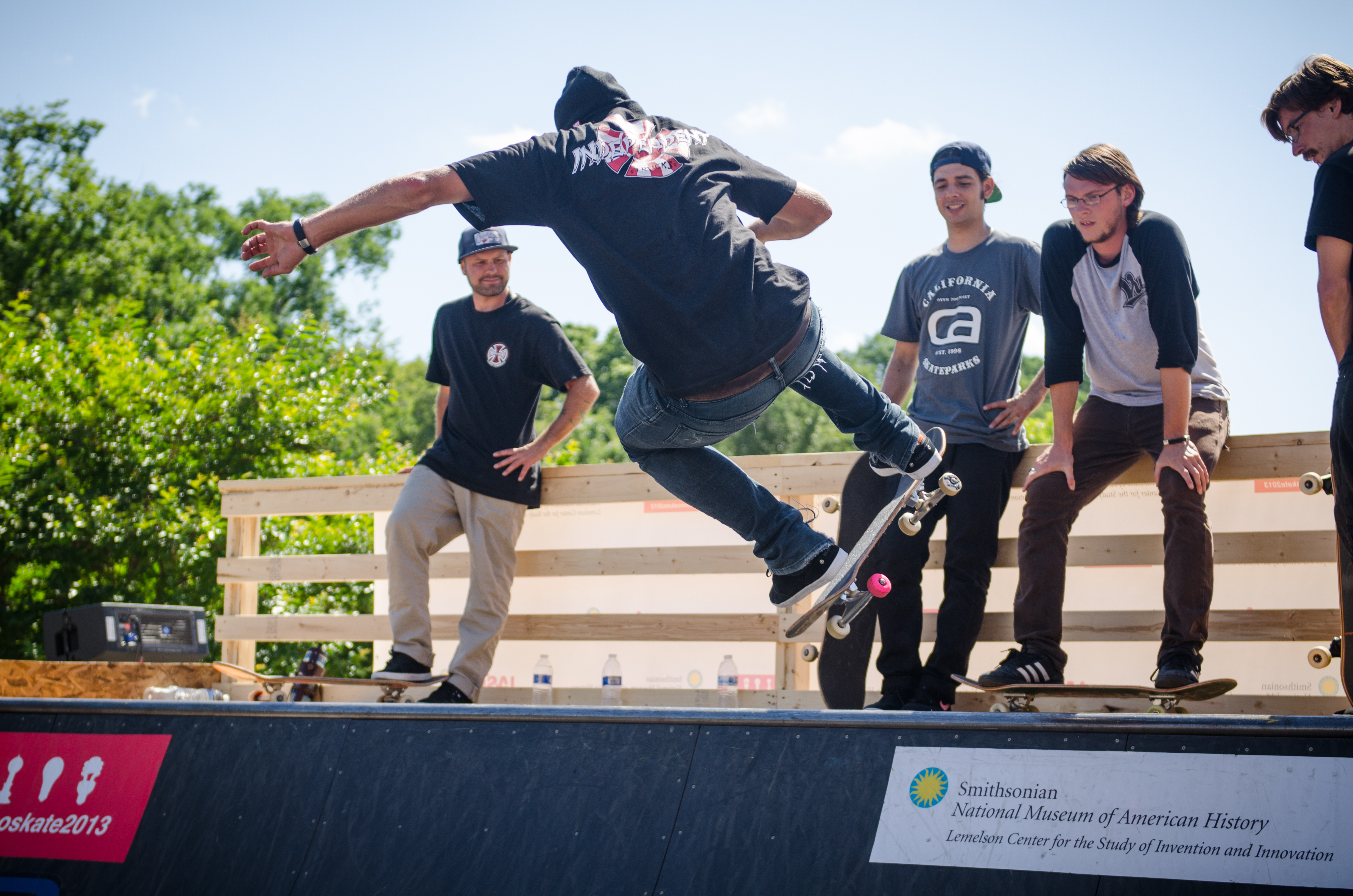 Chris Haslam was one of the many pro skateboarders who showed off their skills on the ramp we constructed outside of the Museum.