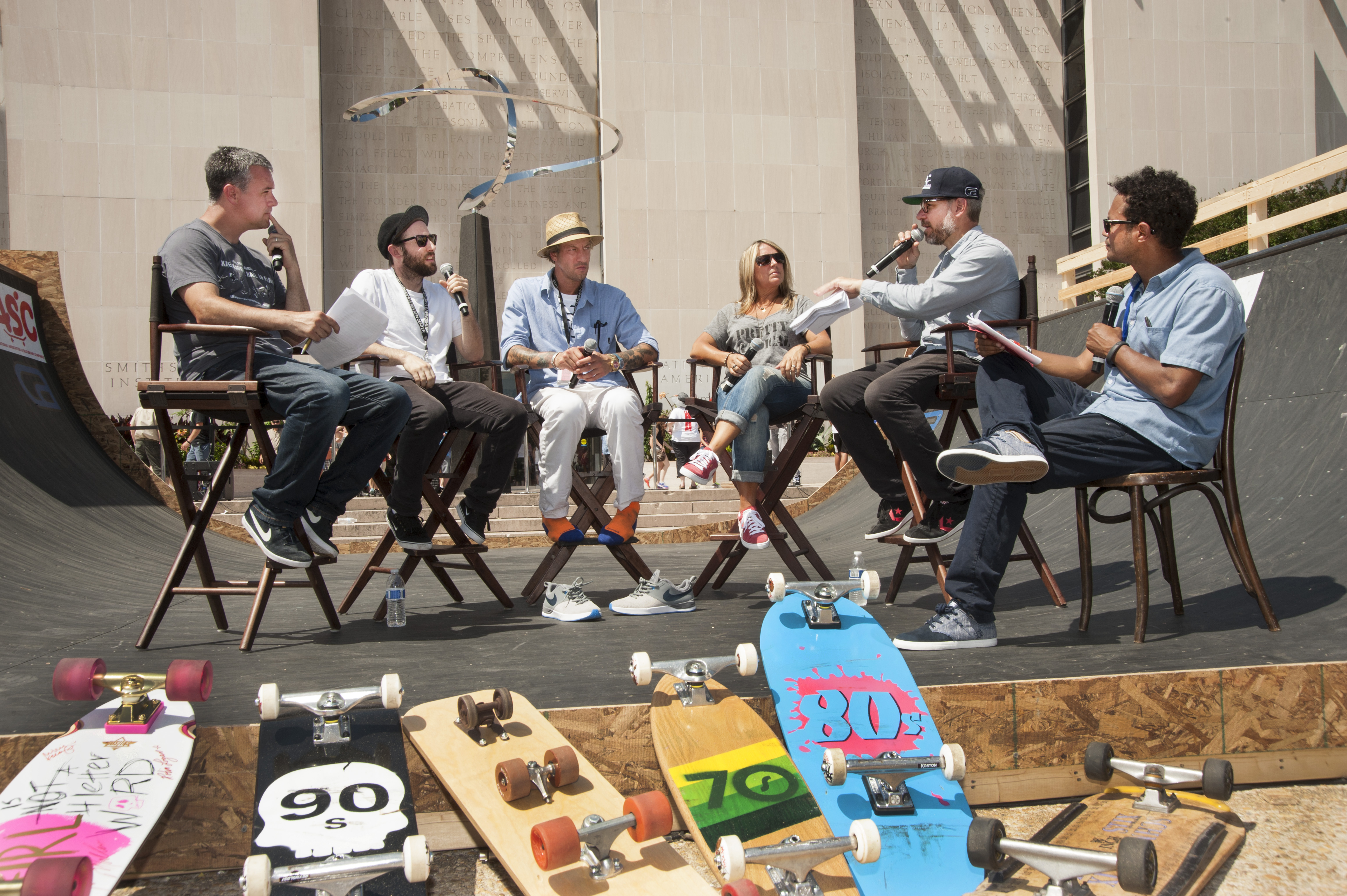 Josh Friedberg, Shawn Carboy, Brian Anderson, Cindy Whitehead, Ryan Clements, and Chris Pastras at Innoskate.