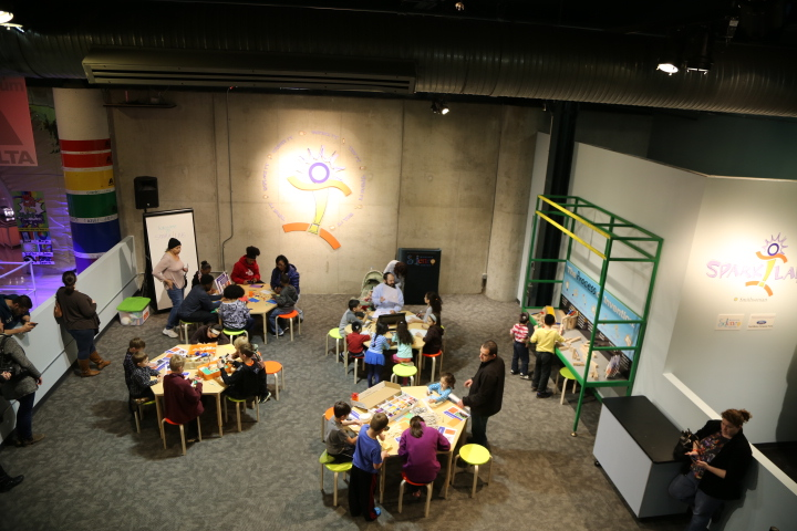 Birds' eye view of Spark!Lab Detroit