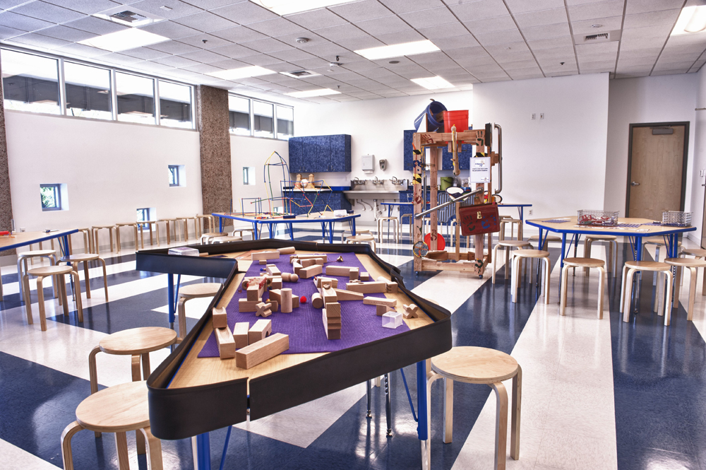 Activity tables at the Nevada Discovery Museum's Spark!Lab