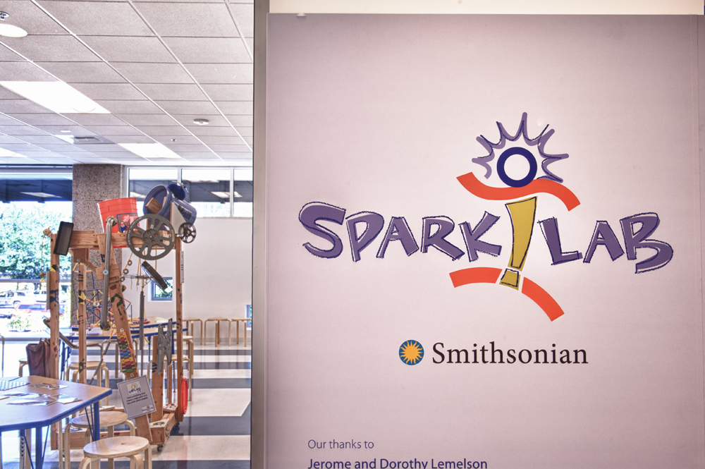 Spark!Lab signage at the Nevada Discovery Museum