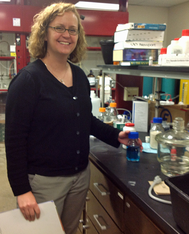 Inventor Amy Prieto in her lab at Colorado State University