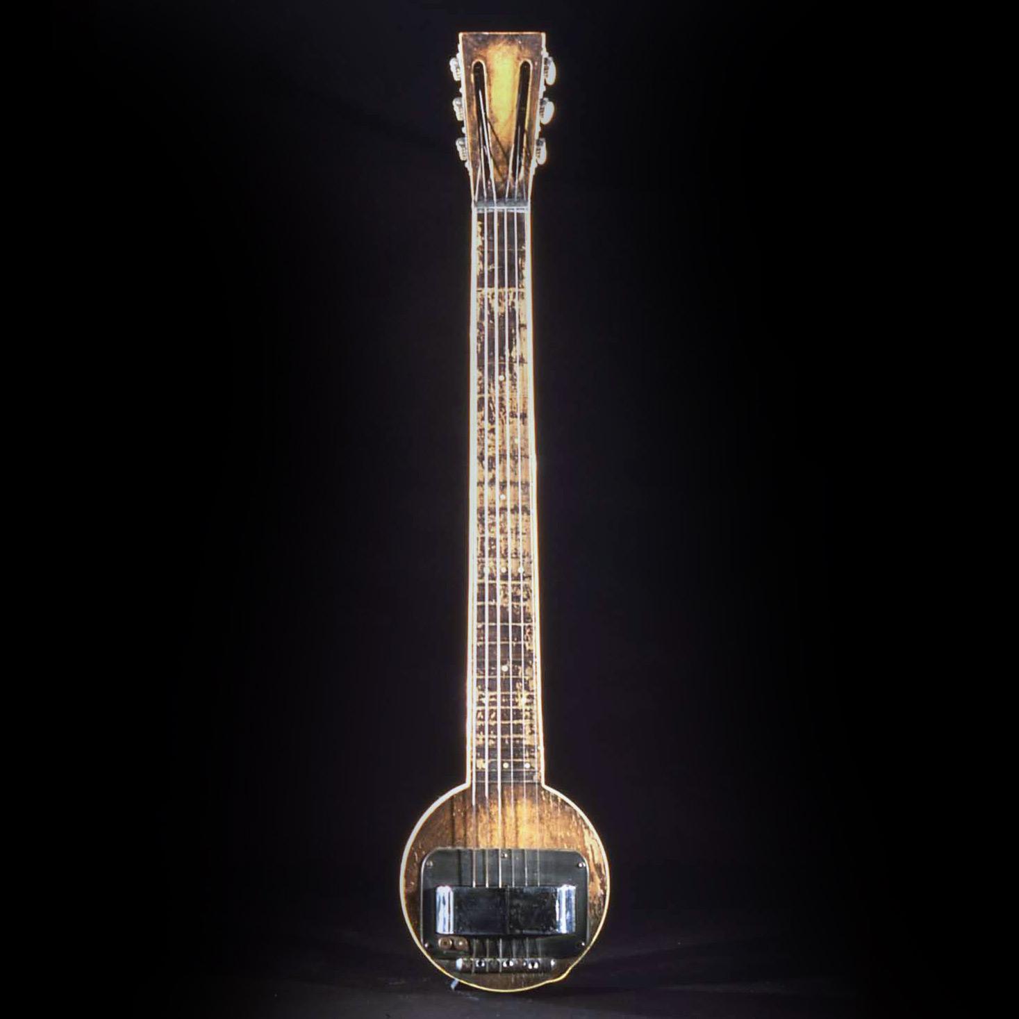 "Rickenbacker Electro Hawaiian, or ""Frying Pan,"" guitar prototype, around 1931."