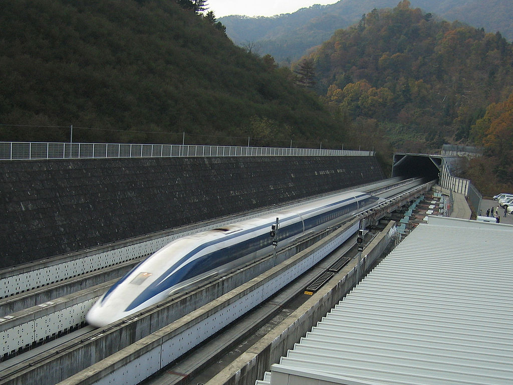 Image of Japanese maglev train