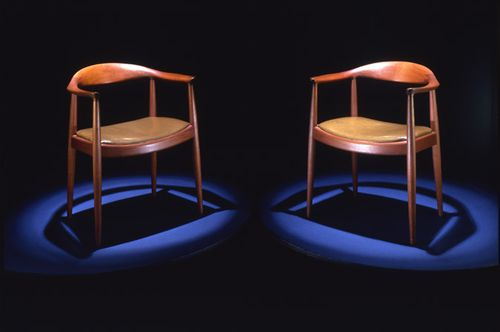 Chairs used by John F. Kennedy and Richard M. Nixon in the televised debates.