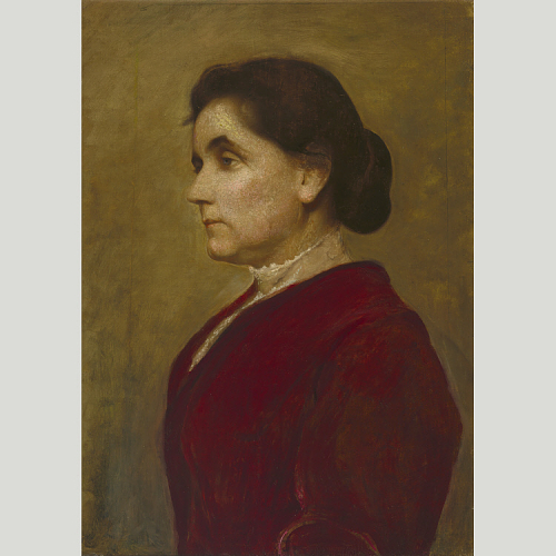 Jane Addans, oil on canvas by George de Forest Brush, 1906.