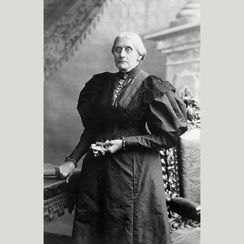 Susan B. Anthony, gelatin silver-print photograph by Theodore C. Marceau, 1898.