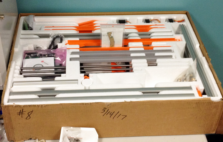 Individual parts in the CNC kit