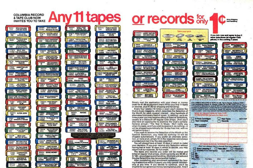 Ad for Columbia House