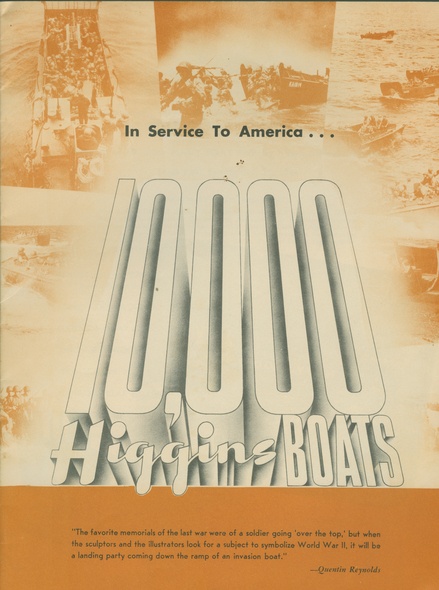 Cover of the Program for the 10,000th Boat Ceremony. Courtesy of The National WWII Museum
