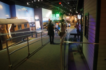 Ramp inside America on the Move, an exhibition at the National Museum of American History