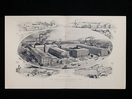 "Factories of the Pope Manufacturing Company, Hartford, Connecticut. From ""Columbia Bicycles"" catalog, 1898"