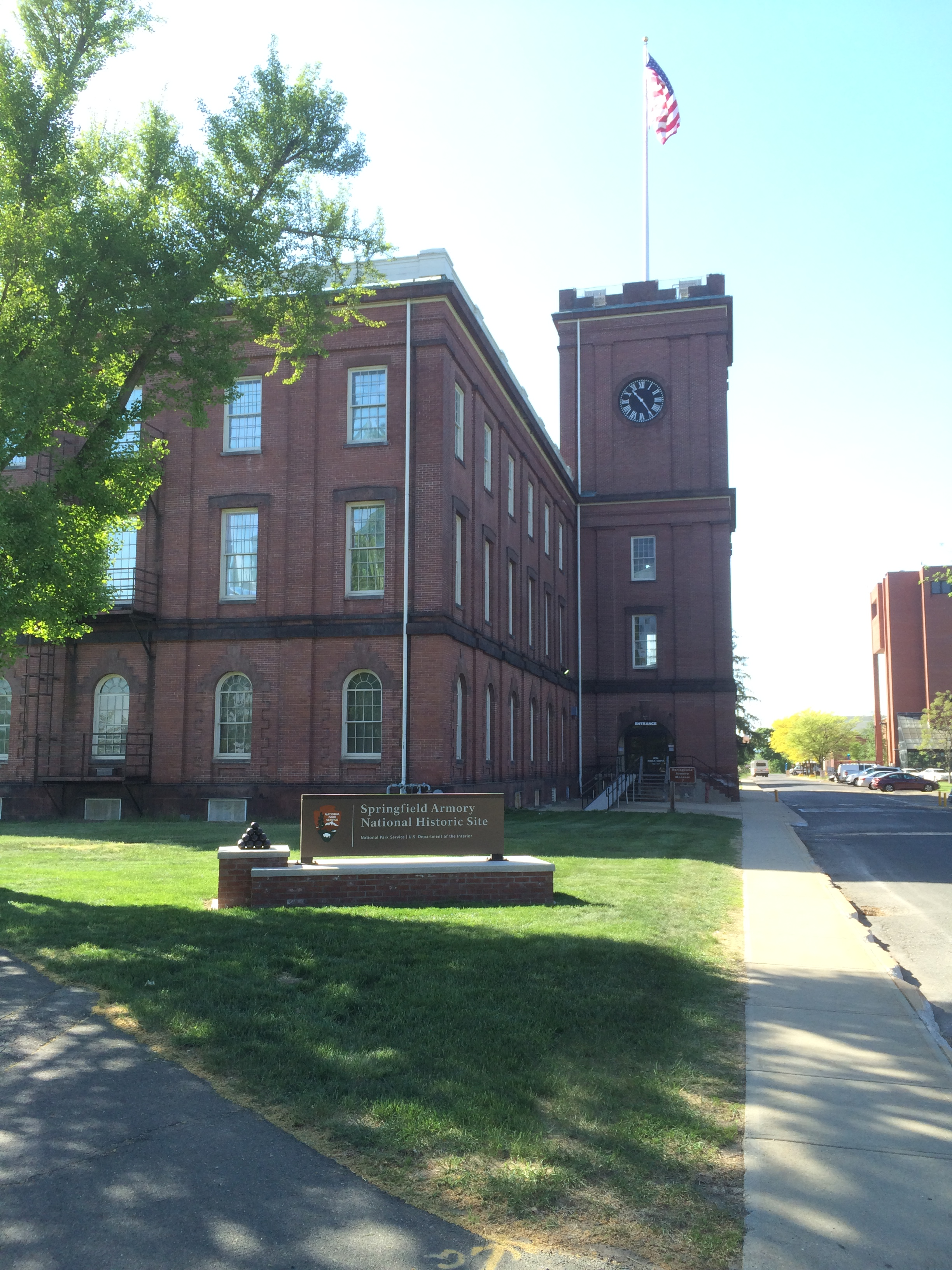 The Visitor's Center of the Springfield Armory National Historic Site, which is now part of the campus of Springfield Technical Community College. Photo by Eric Hintz.