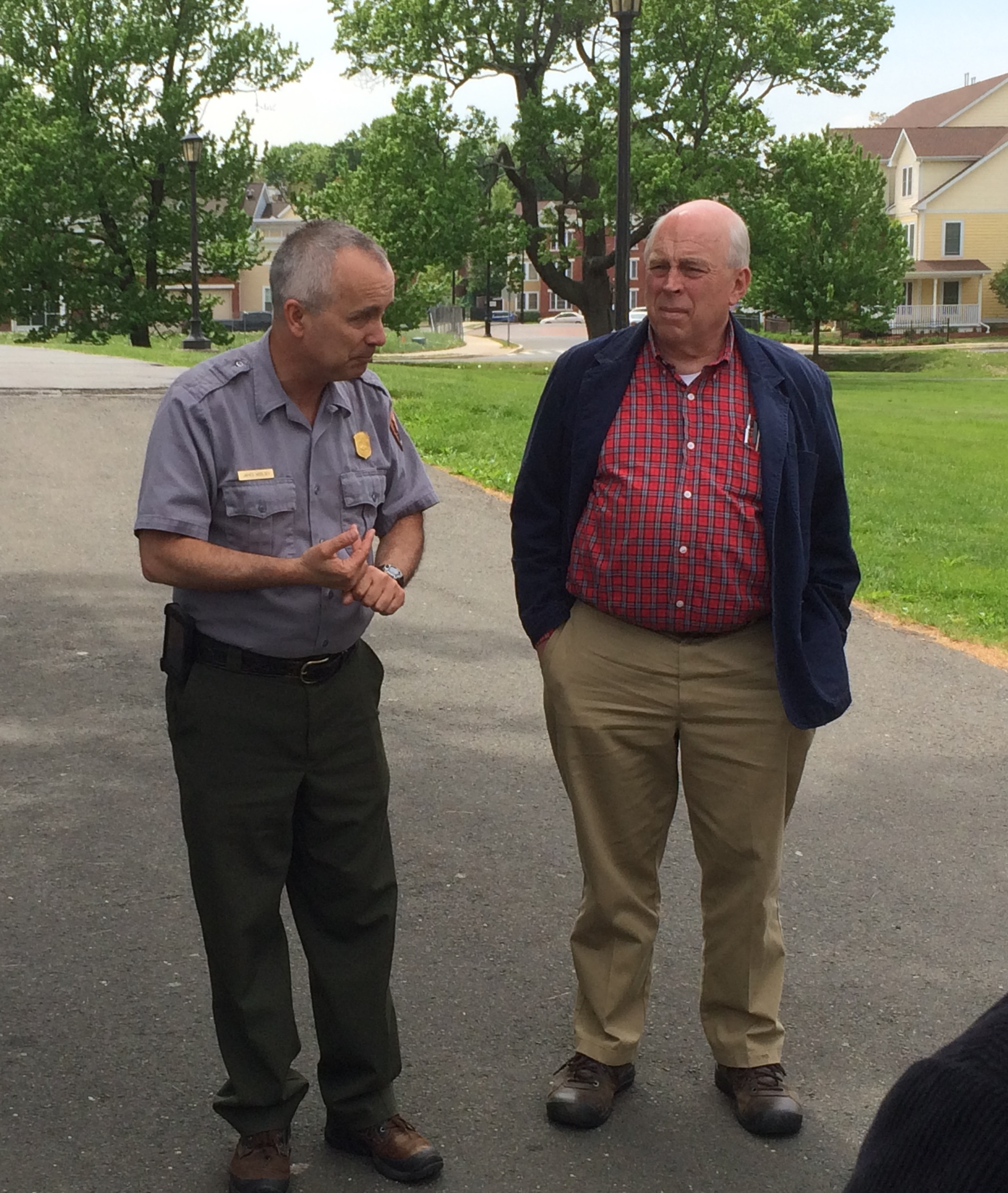 Two of our tour guides were James Woolsey (left) and Jack Hale (right).