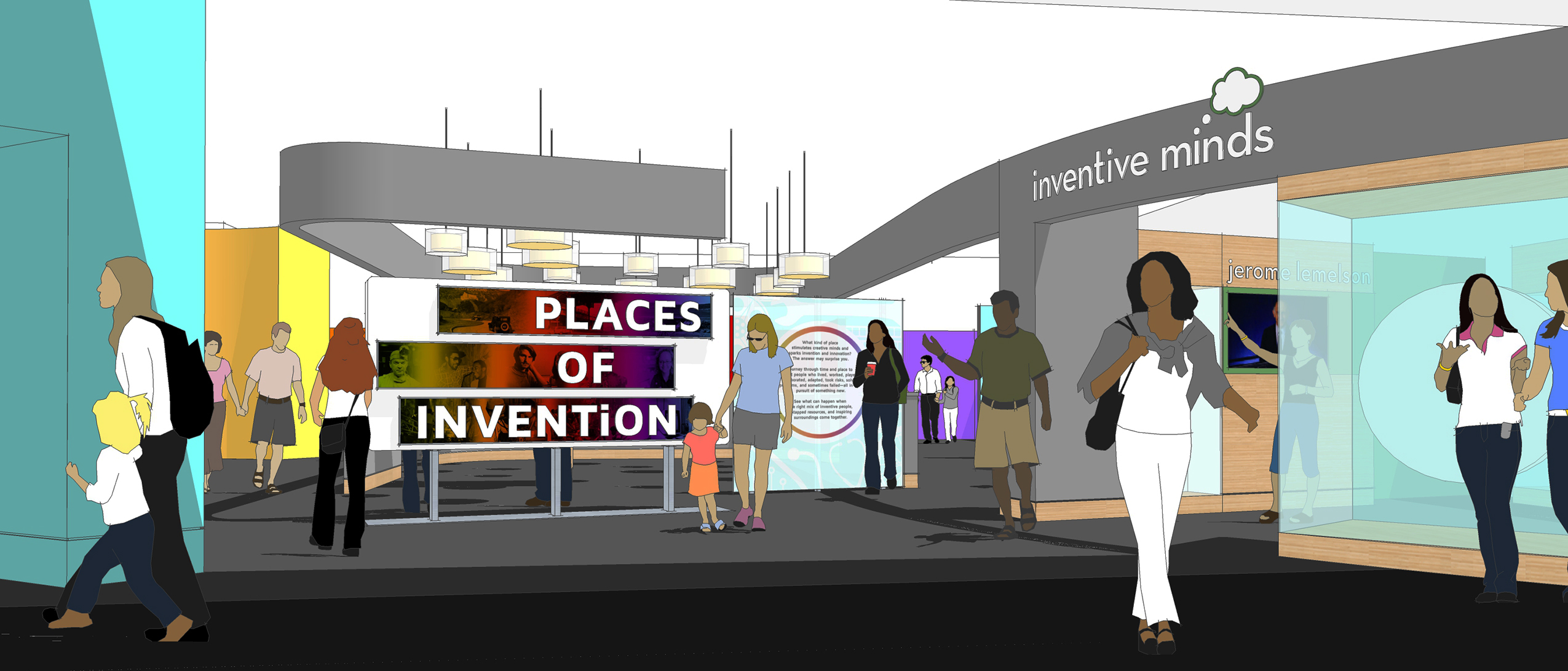 Rendering of the Lemelson Hall of Invention entry