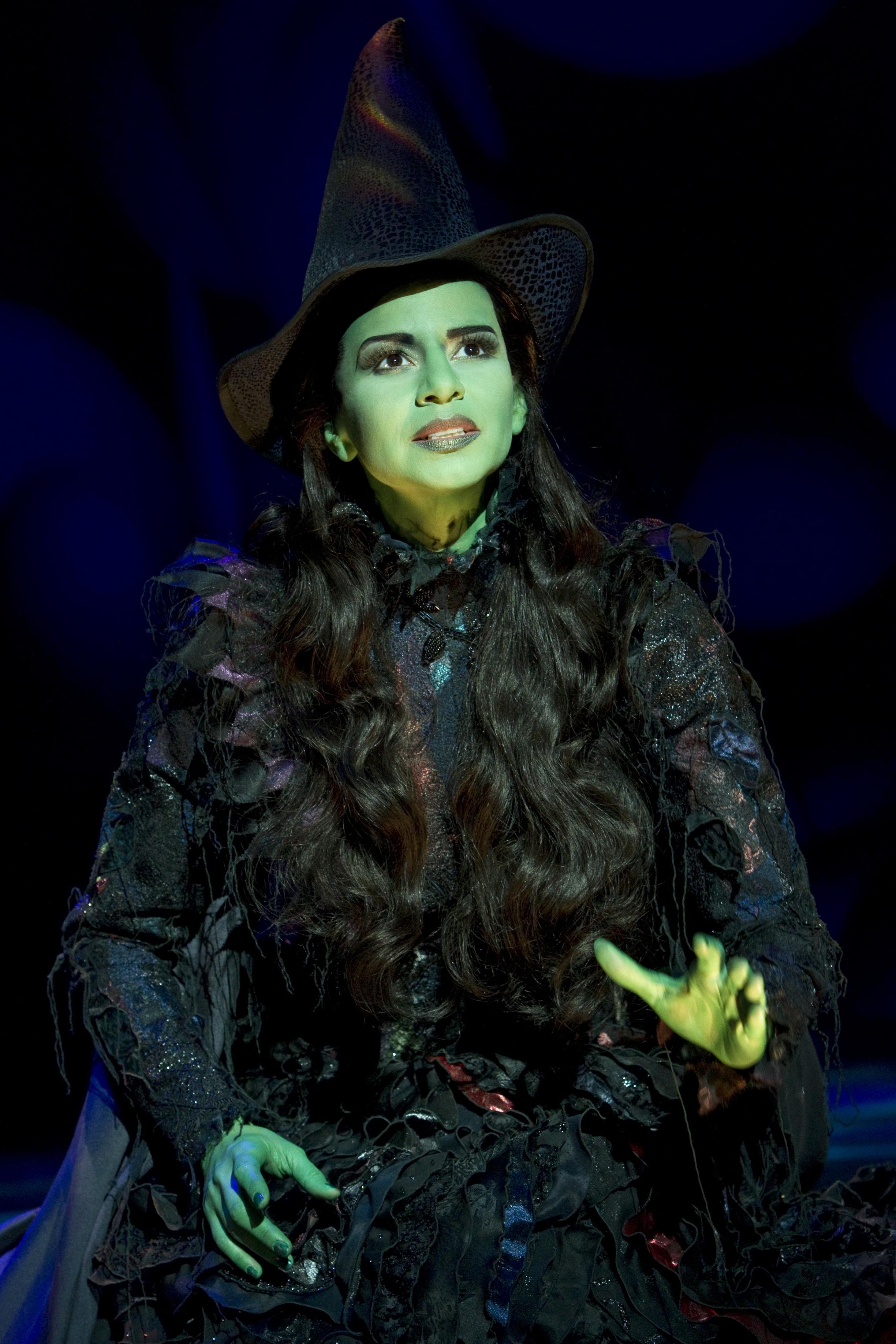 Mandy Gonzalez as Elphaba in Wicked.