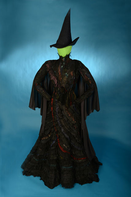 Elphaba's dress, hat, and broom from Wicked
