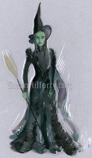Susan Hilferty's sketch for the Elphaba costume