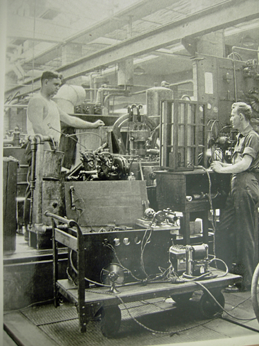 Charles Stark Draper in the MIT engine laboratory, 1931