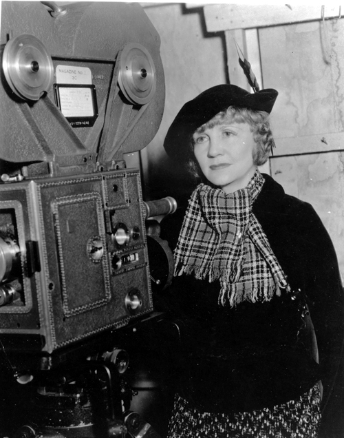 Natalie Kalmus with the 3-strip Technicolor camera