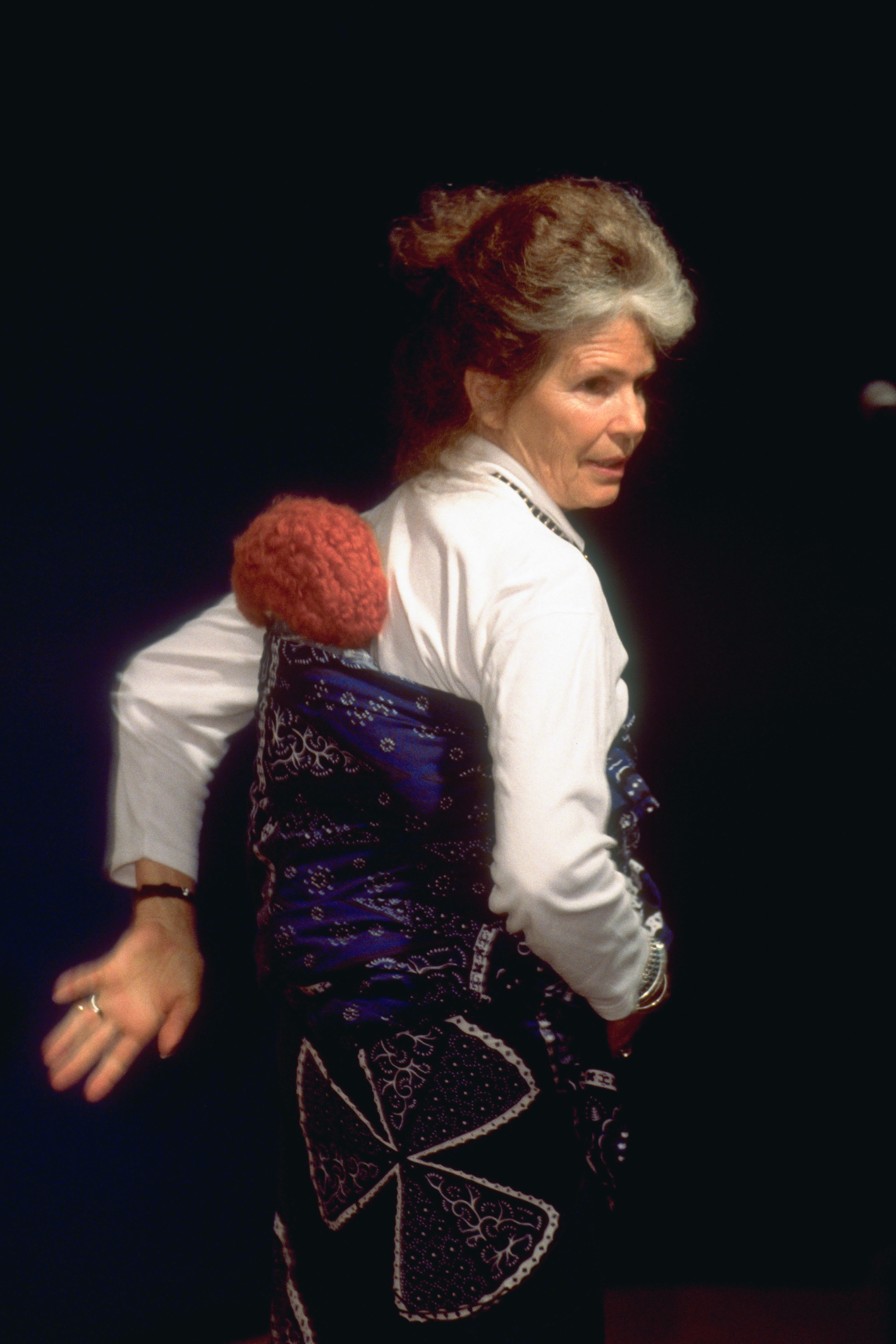 Image of Ann Moore with a Snugli® on her back