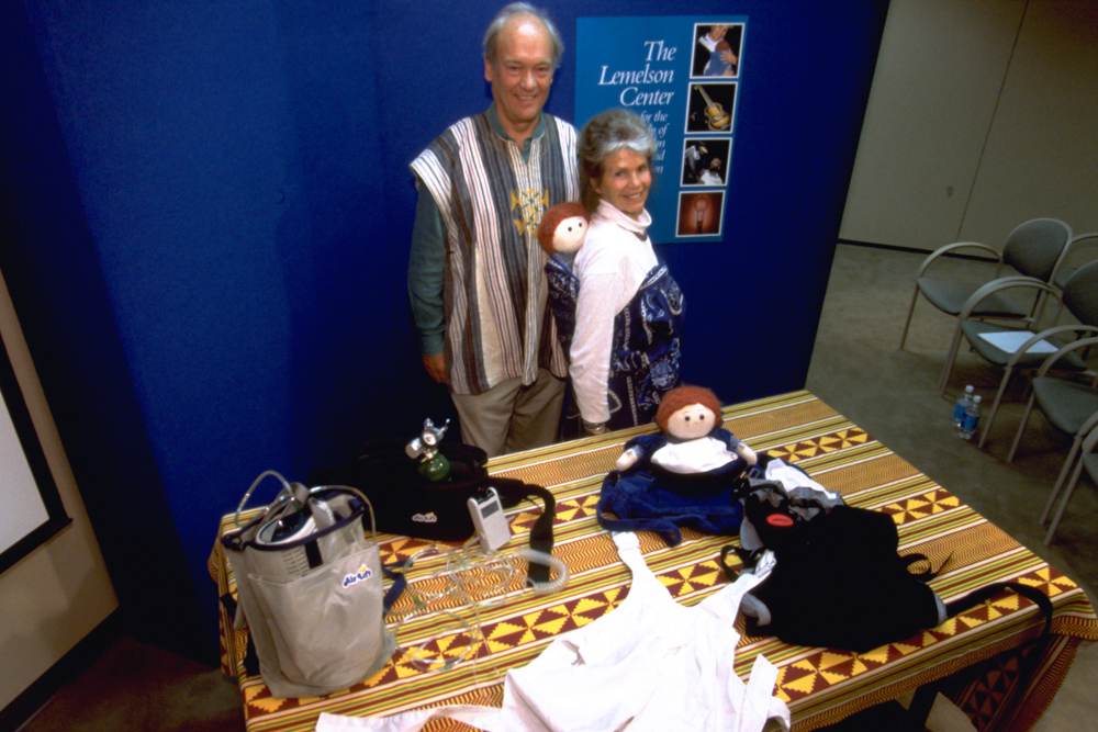 Image of Ann and Mike Moore with their inventions