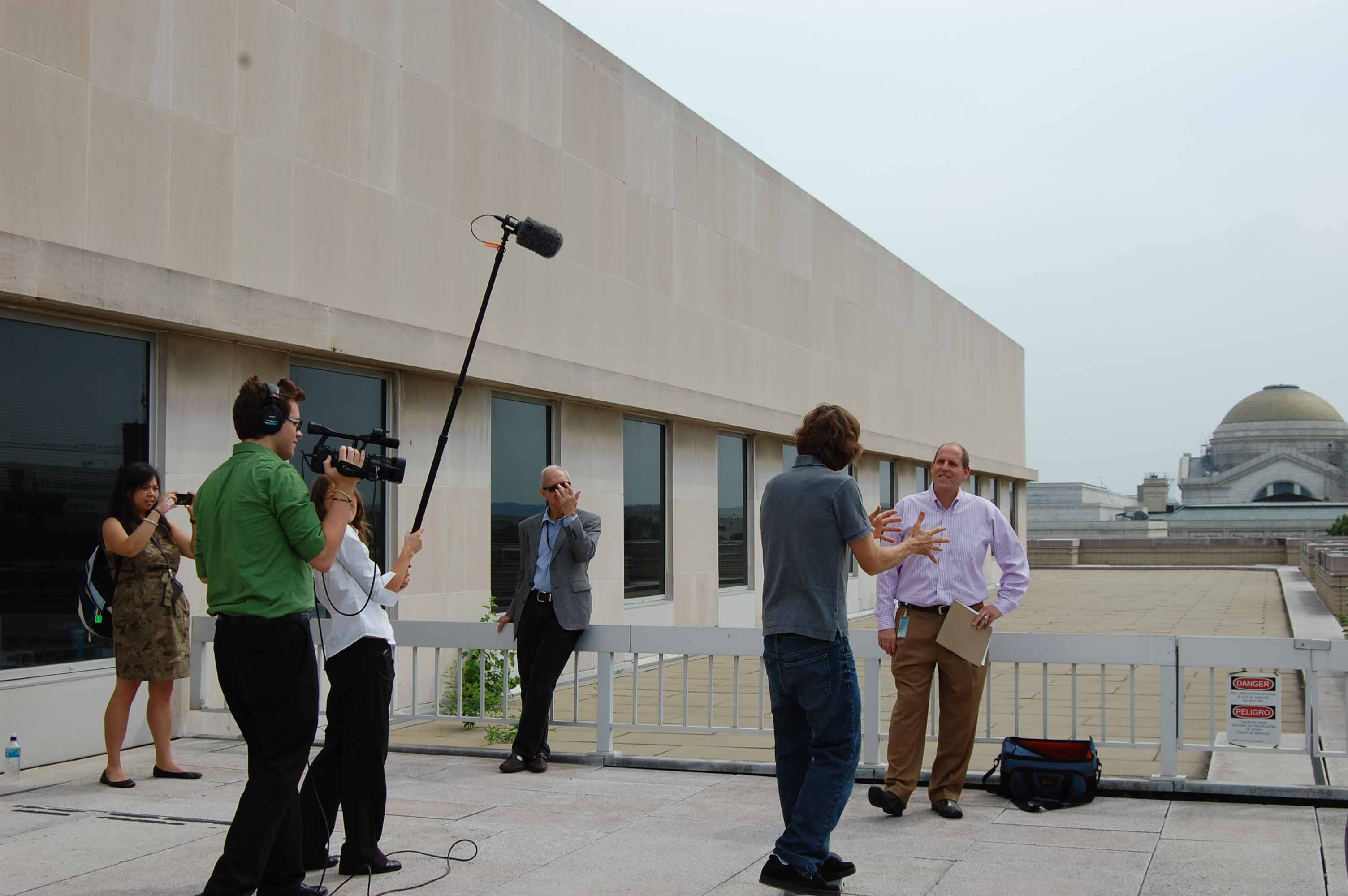 Skate legend Rodney Mullen was kind enough to let us film him doing tricks on the roof terrace of the Museum.