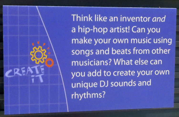"""""""Be an Inventive DJ"""" activity text instructions"""