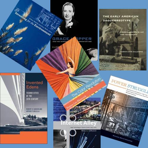 Montage of book covers published in the Lemelson Center Studies series